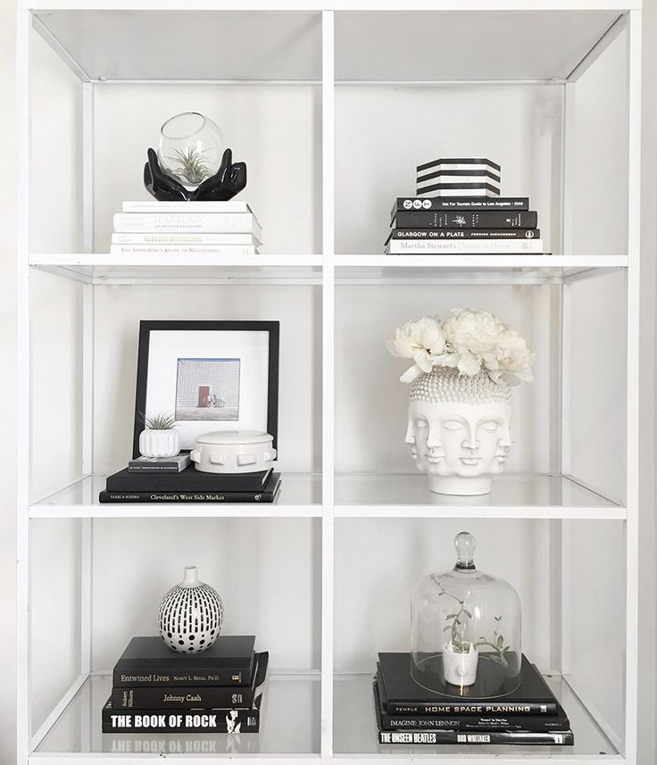 How To Style A Bookshelf With Black White