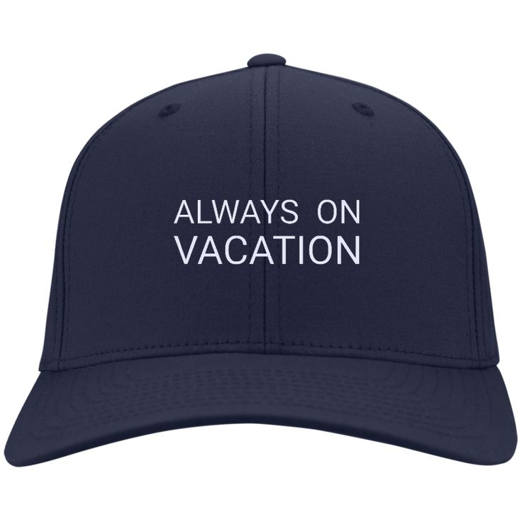 Always On Vacation Cap from Munkberry. Inspired by a love of travel and adventure. These trendy hats are great for everyday, traveling, hiking, camping, outdoors, and more. Great gift idea for women. Baseball caps, hats.