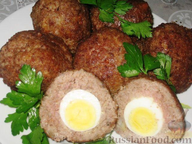 Рецепт: Шотландские яйца на RussianFood.com