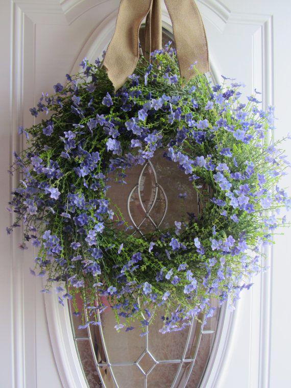 wreaths for front door | Summer Wreath, Front Door Wreath, Country Wreath, Lilac Wreath ...