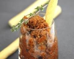 Purée de tomates séchées en verrine