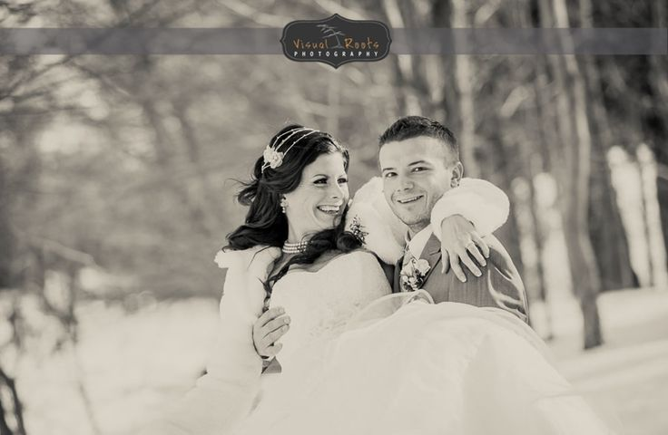 #VisualRoots #WinterWedding #Muskoka #Bride #Groom