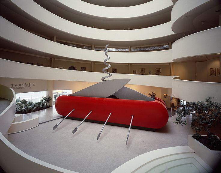 [1980] - ARTE | Collection Online | Claes Oldenburg and Coosje van Bruggen. Knife Ship I. 1985 - Guggenheim Museum