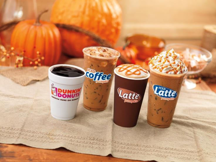 Pumpkin coffee & lattes are back at Dunkin'! #DDPumpkinEffect