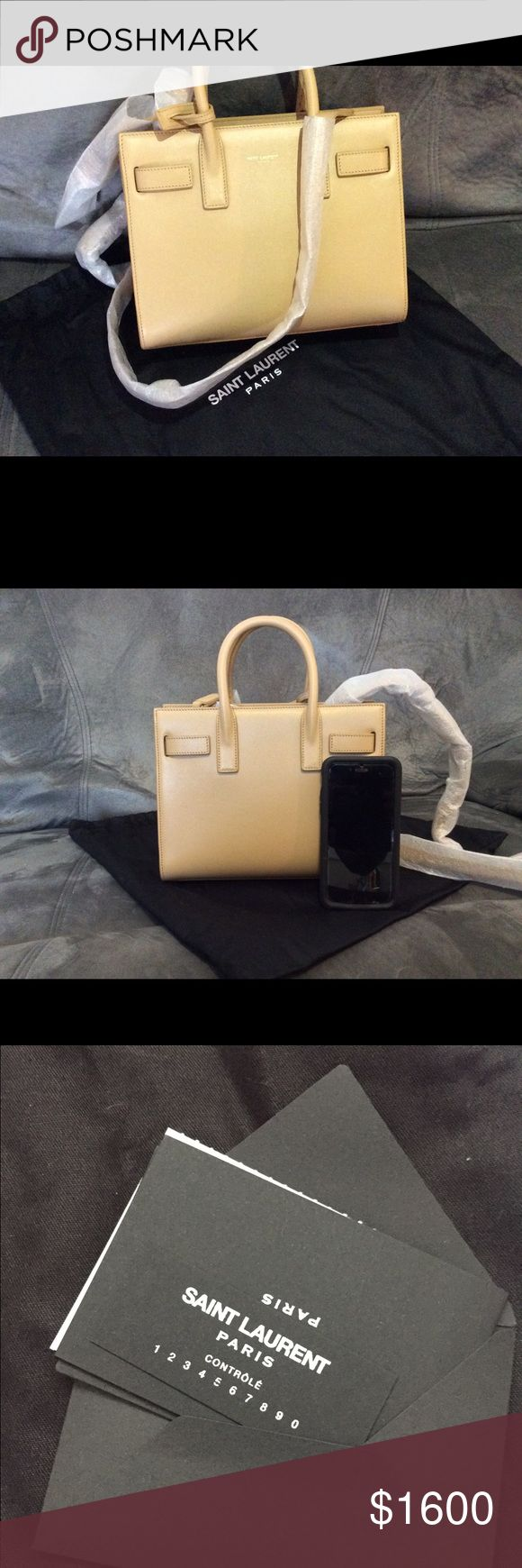 Saint Laurent Sac De Jour Nano Bag Brand new super cute and versatile bag! Dust bag, authenticity card and care booklet included. The bag is made of genuine leather! Yves Saint Laurent Bags Shoulder Bags