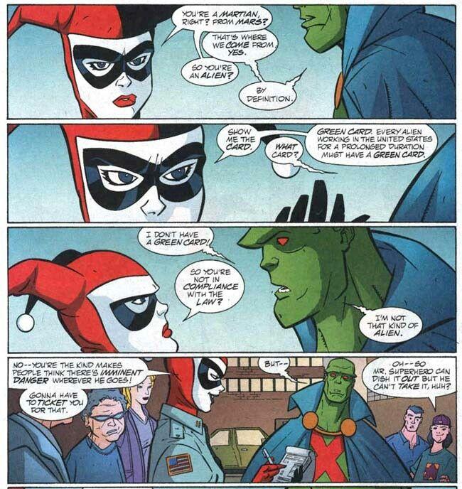 Harley quinn and martain manhunter