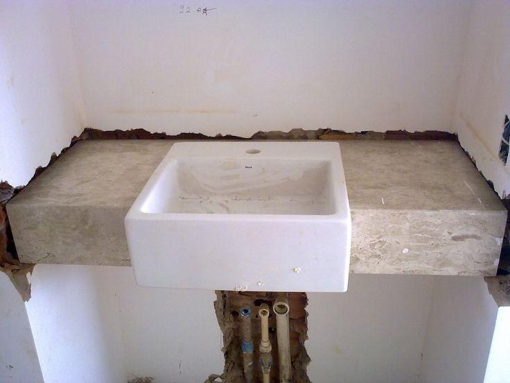 pia de banheiro com cuba de sobrepor  Pesquisa Google  banheiros  Pinteres -> Kits De Pia De Banheiro