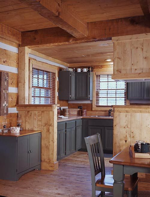 rustic grey kitchen cabinets i think i want to paint my cabinets black log home 25743