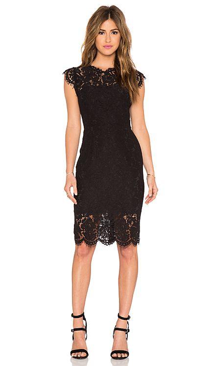 RACHEL ZOE Suzette Lace Mini Dress in Black | REVOLVE