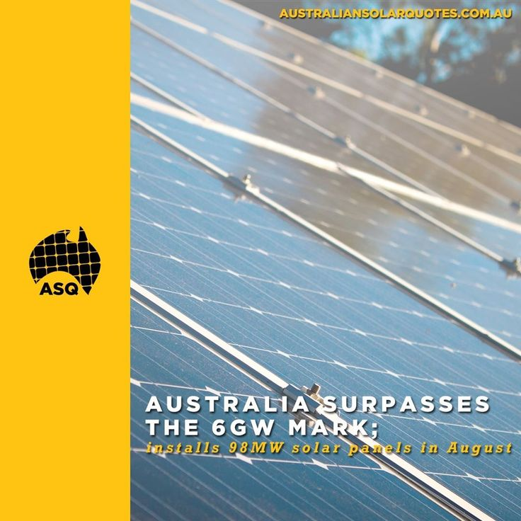 Last month Australian households and businesses installed a total solar capacity of 98MW on their rooftops making it one of the highest months ever recorded in Australia.  The August performance extends its record level of the-year-to-date performance taking the countrys grand total of small-scale rooftop solar PV panels above the 6GW target.  Read more about it in ASQ - link is in out bio.  #SolarPower #RooftopSolar #SolarEnergy #SolarSystem
