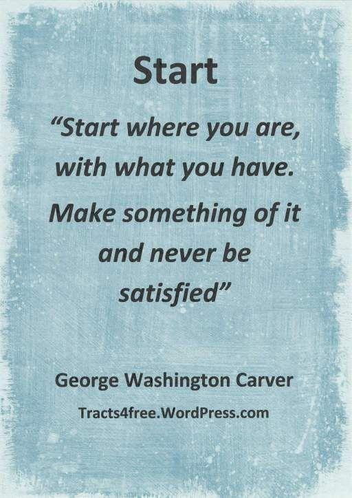George Washington Carver-- Start