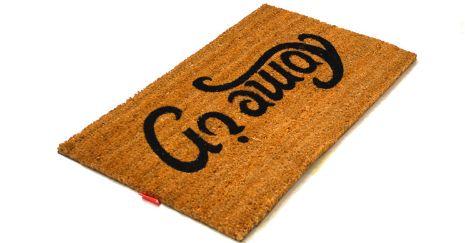 Reversible doormat  'Come In' and 'Go Away'