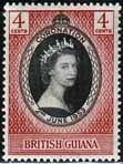 British Guiana Queen Elizabeth II 1953 Coronation Fine Mint SG 330 Scott 252 Other West Indies and British Commonwealth Stamps HERE!