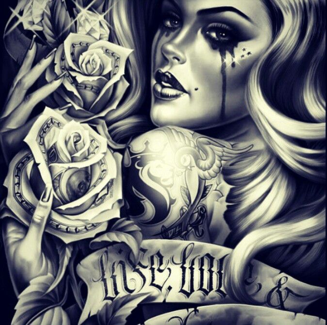 Love this chicano art. Would be a great tattoo
