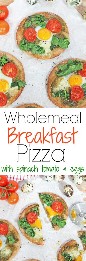 Pizza for breakfast that's delicious AND healthy! Try this Wholemeal Pizza recipe topped with pesto, mozzarella and quail eggs   My Fussy Eater Blog