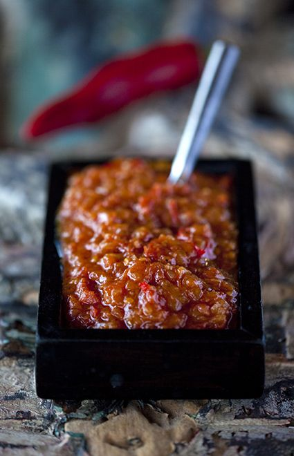 Sambal. The traditional Balinese chili sauce.