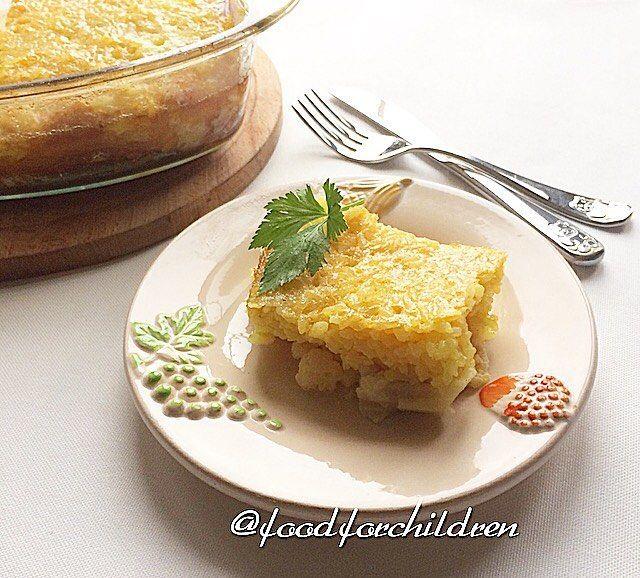На ужин сегодня запеканочка Очень вкусная , с рисом и цветной капустой Порция семейная  ☝️️Ингредиенты: 400 гр замороженной цветной капусты 1 стакан рис круглый 2 ст л растительного масла 2 яйца 1/3 ч л куркумы Соль ☝️️Приготовление: Рис отварить с добавлением куркумы. На дно формы выложить цветную капусту, затем отваренный рис. Отдельно смешать яйца, масло. Вылить сверху на рис. Выпекать 20-25 мин при t 170 гр. Приятного аппетита!