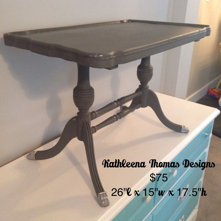 Grey accent table $75