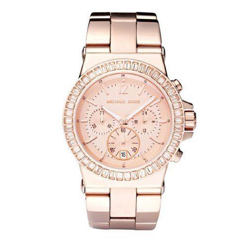 Diese analoge Damenuhr gibt es in der Farbe rosa mit großem Edelstahlarmband zum Preis von 239,30 Euro
