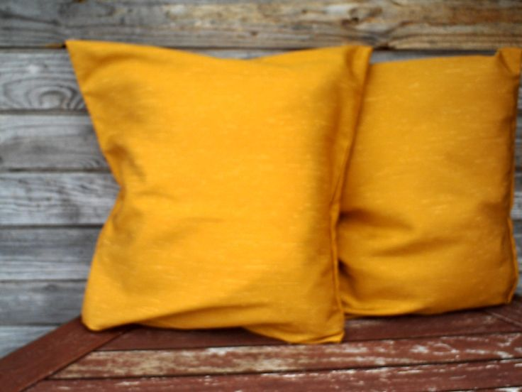 Mustard  Pillow Cover, Decorative Pillow, Set of 2 cover, Mustard  Cushion, RE-USED by YourHomeMarket on Etsy