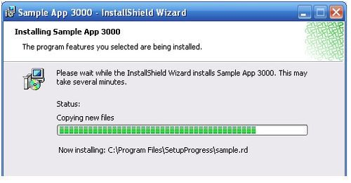 Showing Action Messages During Software Installation  Graphic from