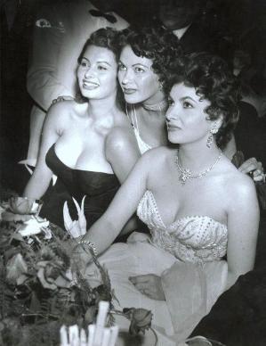 WOW. Sophia Loren,Yvonne De Carlo and Gina Lollobrigida by jessie
