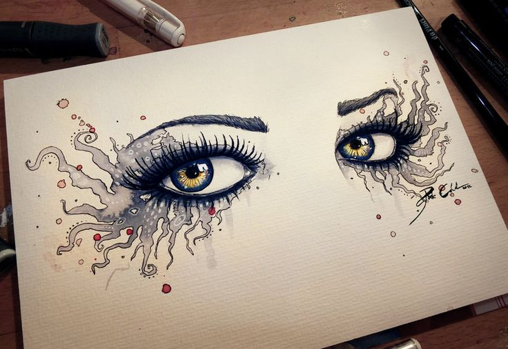 Eyes of a Vampire by =PixieCold on deviantART - many other paintings of eyes on her gallery. Superb work!!