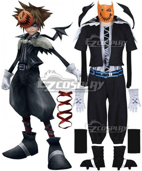 Kingdom Hearts 2 Halloween Town Sora Cosplay Costume Halloween