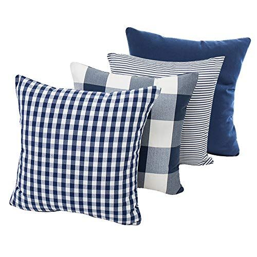 Hoplee Buffalo Check Pillow Covers Red