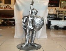Polyester Knight Statue