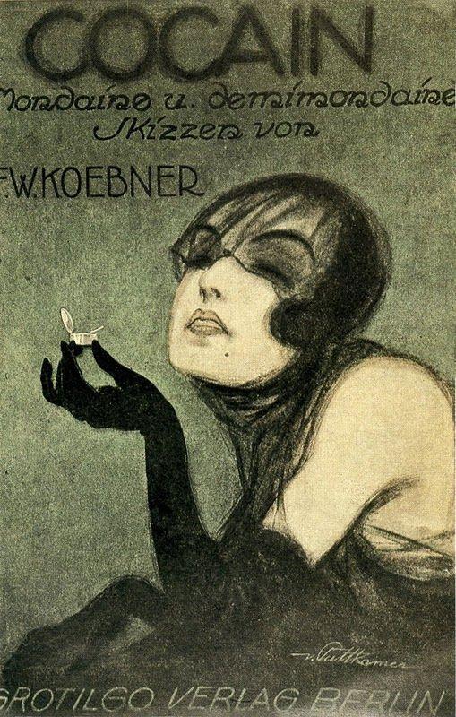 Cocaine poster Weimar Republic era Germany