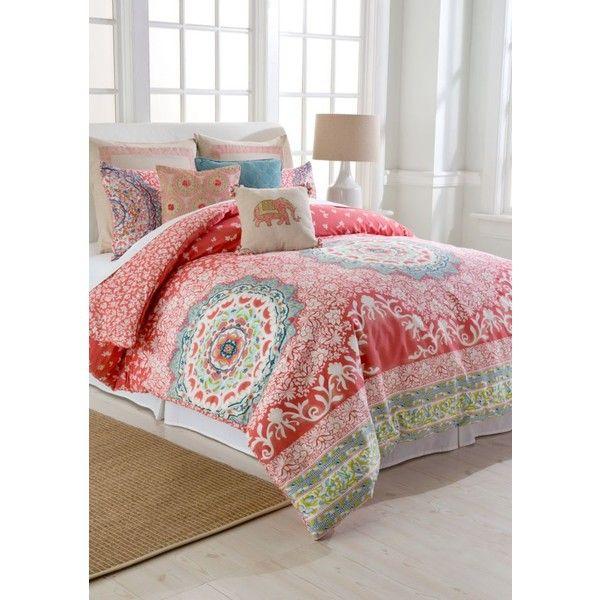 Best Coral Comforter Set Ideas On Pinterest Coral Bedroom - Coral colored comforter set for queen bed