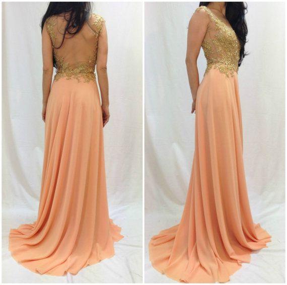 Lovely Beige Lace Dress with Beads, Bridesmaid Long Romantic Dress, Maxi Prom Chiffon Dress, Evening Strapless Dress, Maxi Bustier Dress