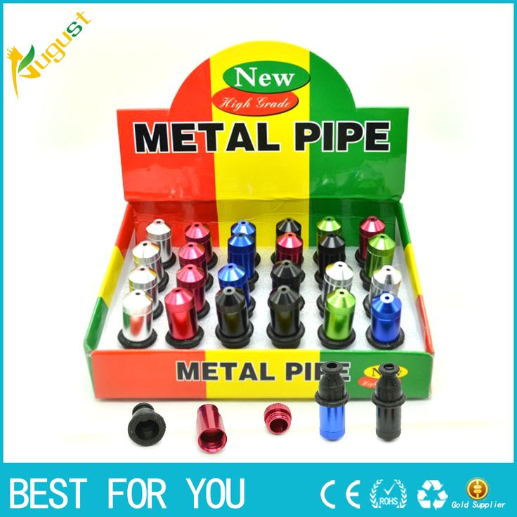 480pcs/lot  2016 hot selling high quality  new arrival colorful metal smoking pipe  with display box