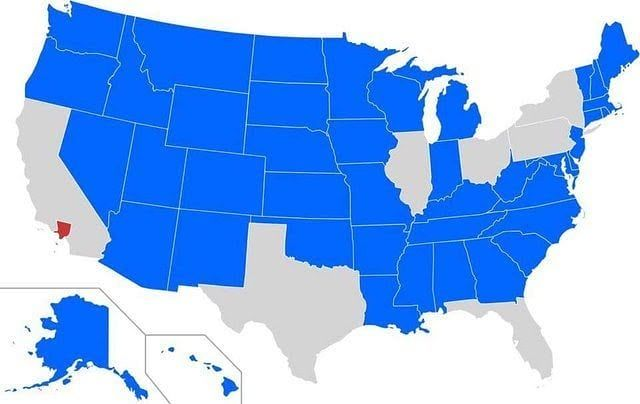 States With A Smaller Population Vs La County Instagram Map - Us-map-la