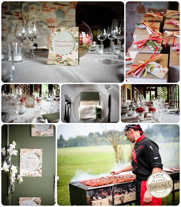 Red + white + green Japan Wedding Theme, Ph Emanuele Capoferri http://www.brideinitaly.com/2013/11/capoferri-japan.html #italy