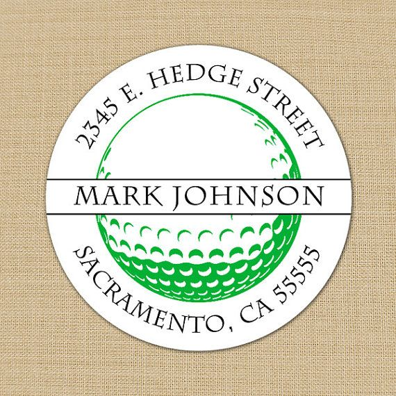 Golf Ball - Custom Personalized Address Labels or Stickers