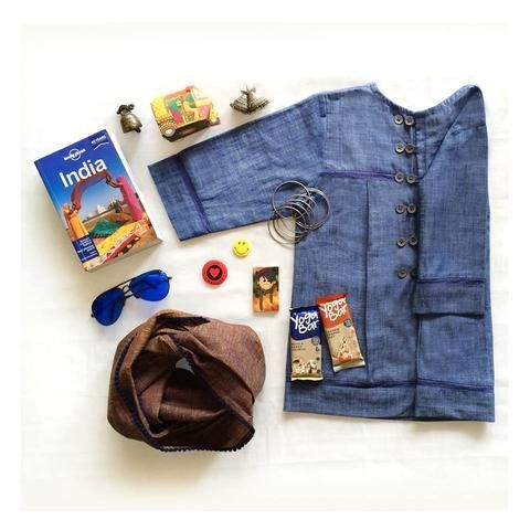 Peek-a-boo top in Chambray from Pomogrenade.