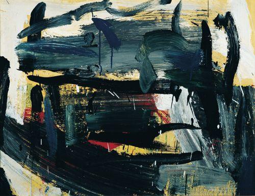 Jean-Paul Riopelle, écume, vers 1956, gouache sur papier marouflé sur toile.