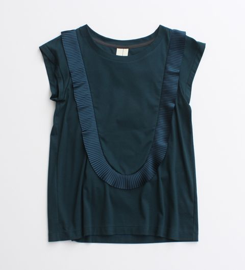 Navy blue top | Sleeveless | Simple