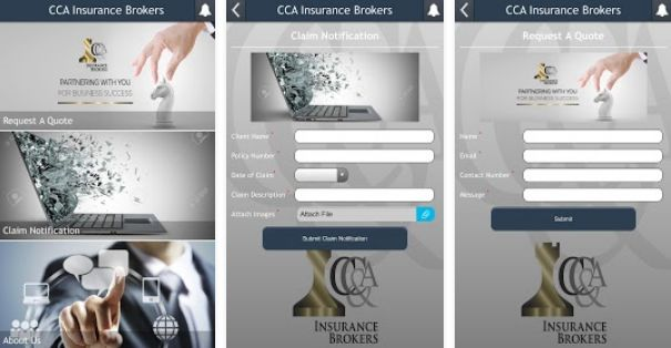 CC&A Insurance Brokers App For Mobile Users - iTunes & Android