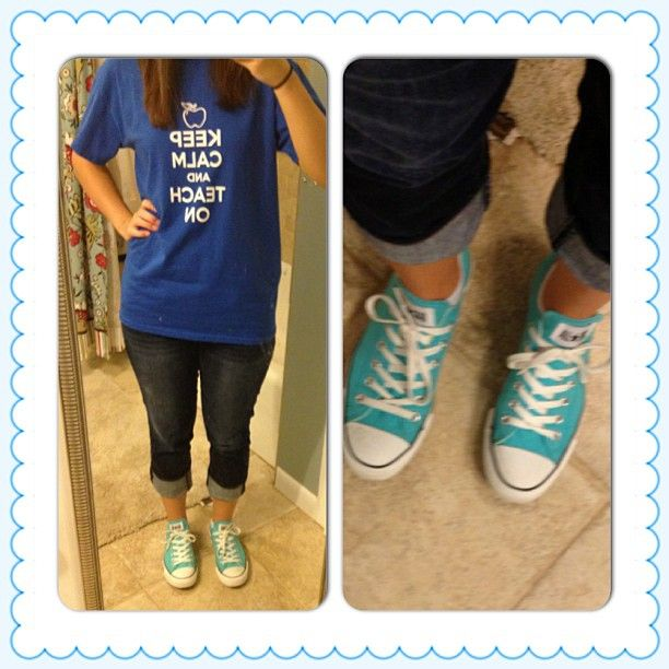 612215b5e88a Teacher Outfit Friday Style.  day6 Shoes-Converse Pants-AE