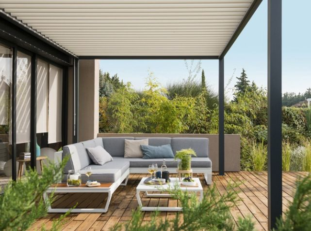 Pergola dur fixe leroy merlin outdoor ideas pinterest deco pergolas and merlin - Canvas voor pergola leroy merlin ...