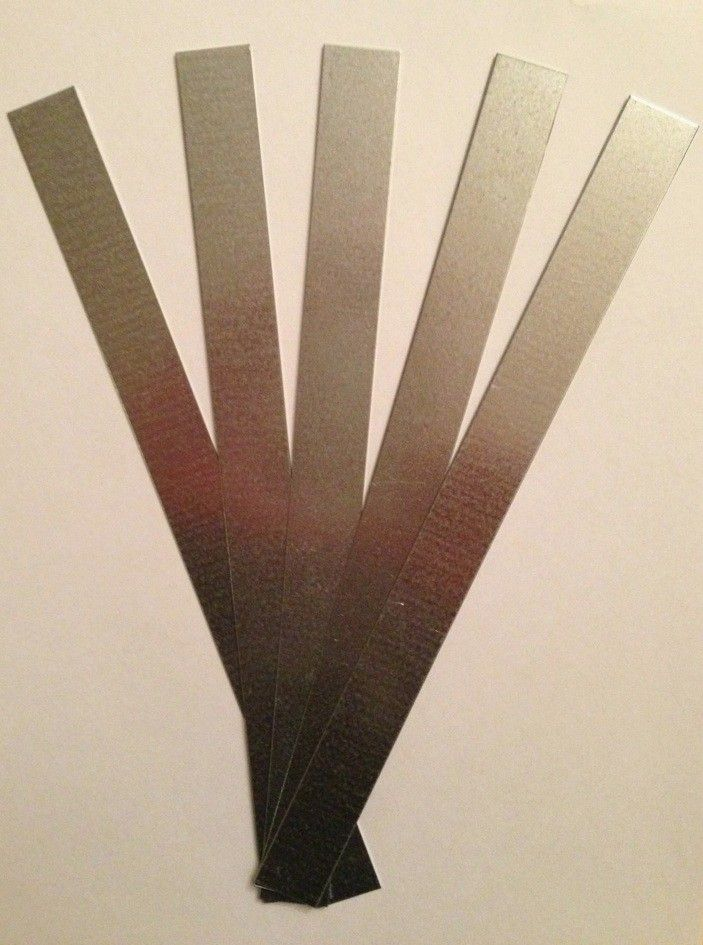 Lige skilt 24 x 2 cm, galvaniseret stål