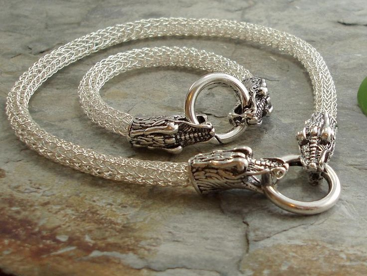 Adore the dragon-head clasps on this piece. Nice to see someone using it for Viking Knit! I have some on order myself for the same thing!
