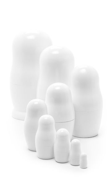 I'm obsessed with these!!  Maison Martin Margiela Russian Nesting Dolls