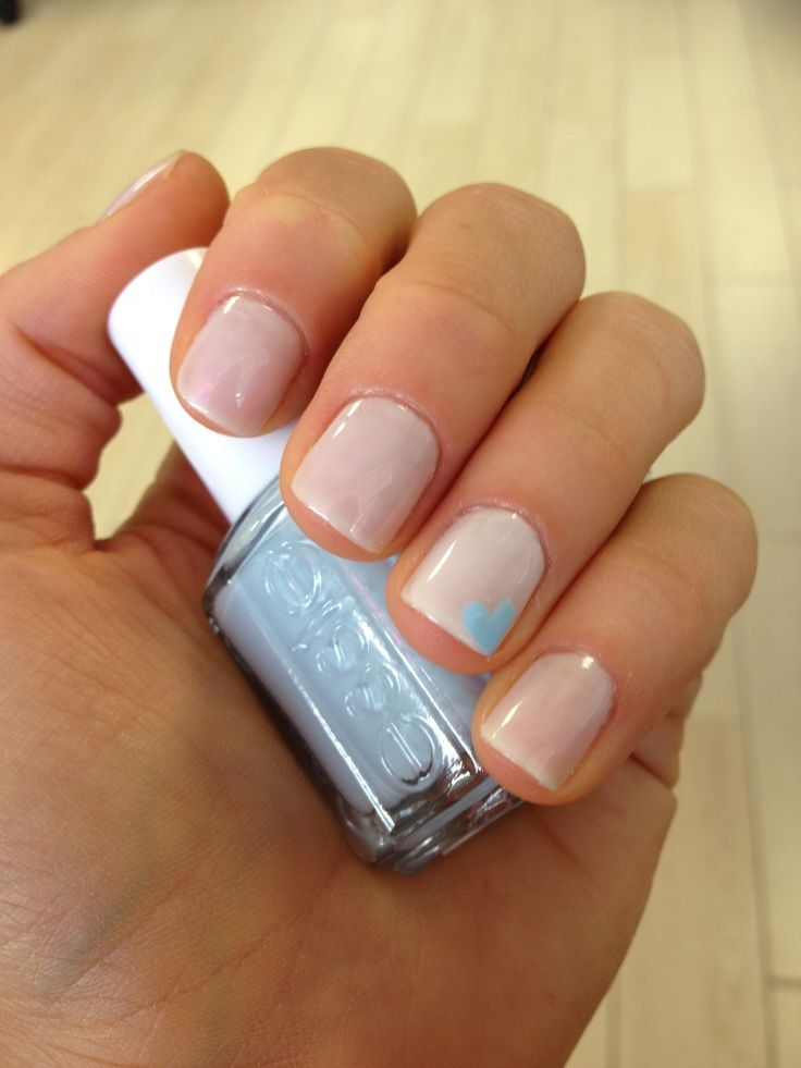 blue heart wedding nails | forget blue shoes or accessories and go with something blue nails not ...