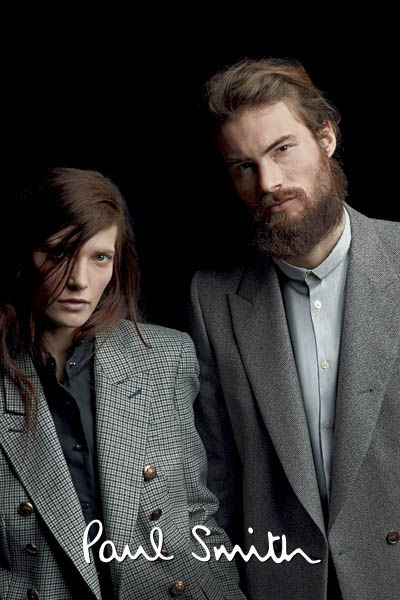 Modern couple. 2012 Paul Smith Spring Summer Ad Campaign