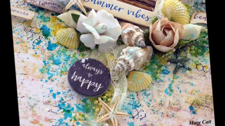 ''Summer Vibes'' - Mixed Media Layout Tutorial for ''My Creative Scrapbook''