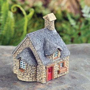 MICRO GRANDMAS COTTAGE - How I wish my grandmas cottage was this stunning. This divine piece is perfect for pots OR a micro world inside a fairy world. We can't decide, so we did both.. #fairygardeningaustralia
